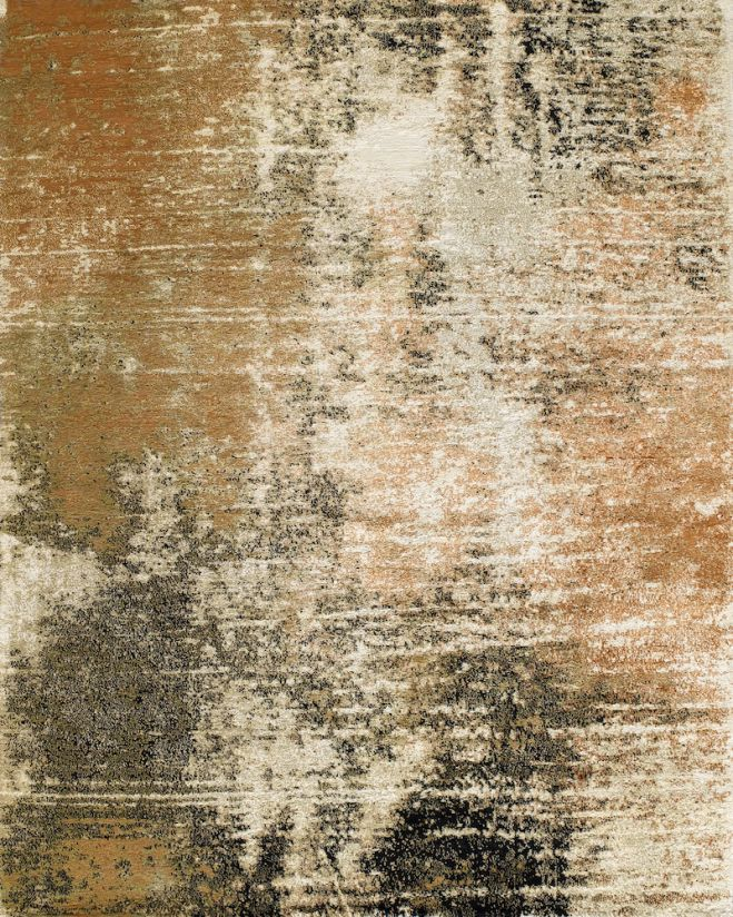 245 x 305 cm Grit Rust Orange by Zoe Luyendijk