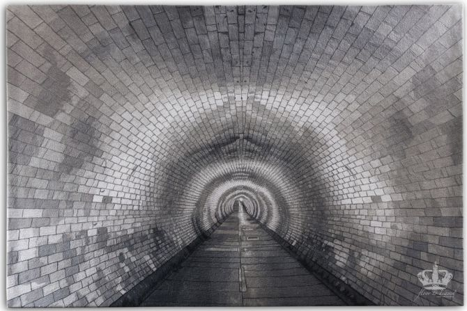 200 x 200 cm Tunnel by Michaela Schleypen